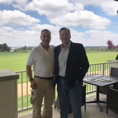 Roy Westfehling and Dr Duarte Da Silva